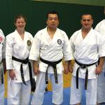 Con Kassis with some of his senior black belts & Kenyu Mabuni - son of his teacher Kenei Mabuni